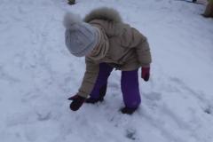 Śnieg na placu zabaw